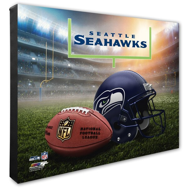 "Seattle Seahawks 20"" x 24"" Helmet & Stadium Canvas"