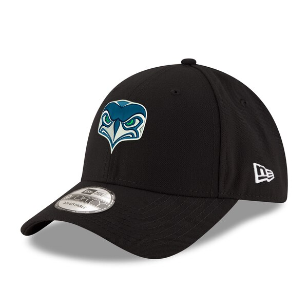 Seattle Seahawks New Era Youth Alternate Team Logo Gear 9FORTY Adjustable Hat - Black