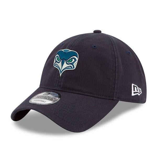 Youth Seattle Seahawks New Era Alternate Team Logo Gear 9TWENTY Adjustable Hat - College Navy
