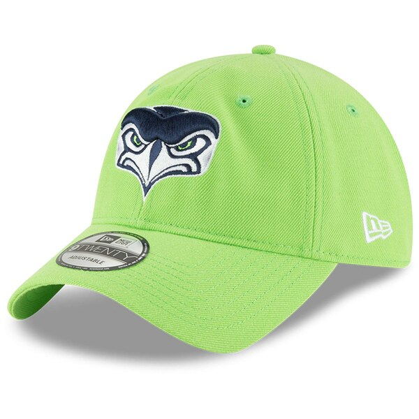 Seattle Seahawks New Era Alternate Team Logo 9TWENTY Adjustable Hat - Neon Green