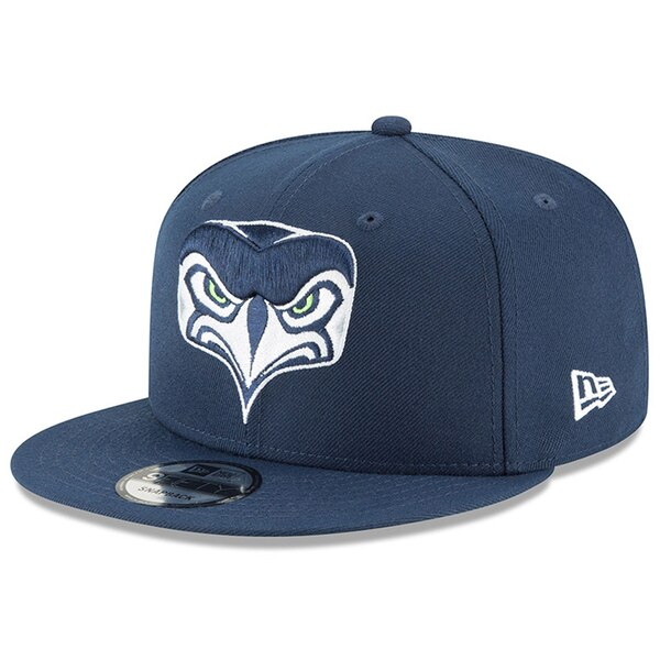 Seattle Seahawks New Era Alternate Logo 9FIFTY Adjustable Snapback Hat - College Navy