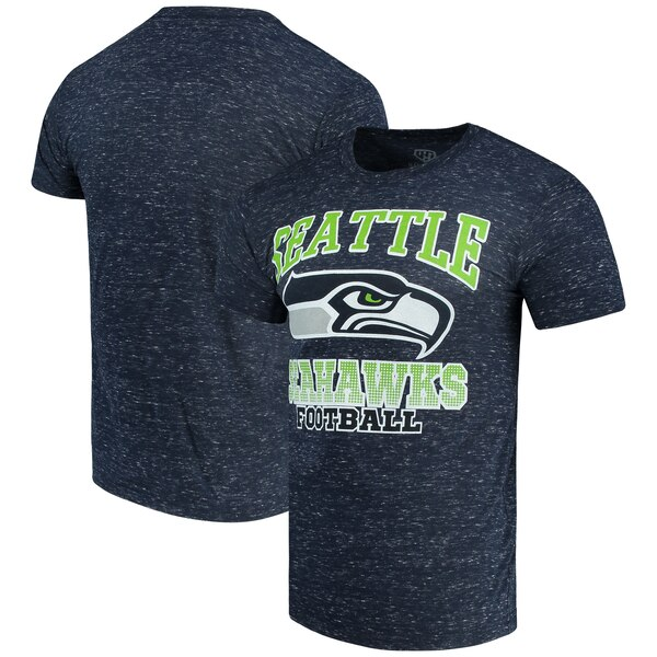 Seattle Seahawks G-III Sports by Carl Banks Outfield Speckle T-Shirt - College Navy