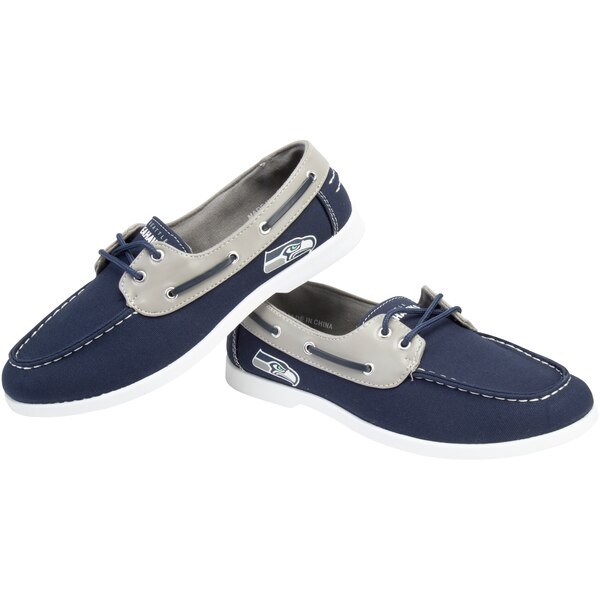 Seattle Seahawks Side Logo Slip-On Canvas Shoe