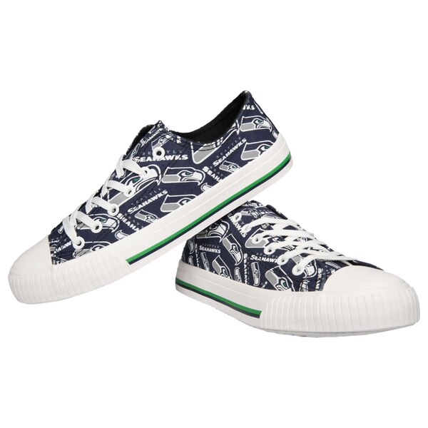 Seattle Seahawks Women's Repeat Print Low Top Sneakers