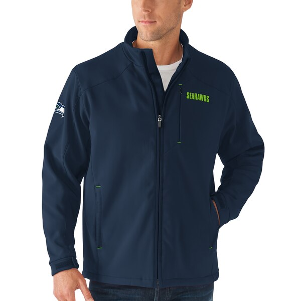 Seattle Seahawks G-III Sports by Carl Banks Fullback Bonded Full-Zip Jacket - College Navy