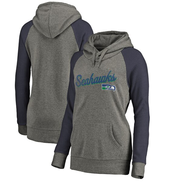 8b008312 Seattle Seahawks NFL Pro Line by Fanatics Branded Women's Timeless  Collection Rising Script Plus Size Tri-Blend Hoodie - Ash
