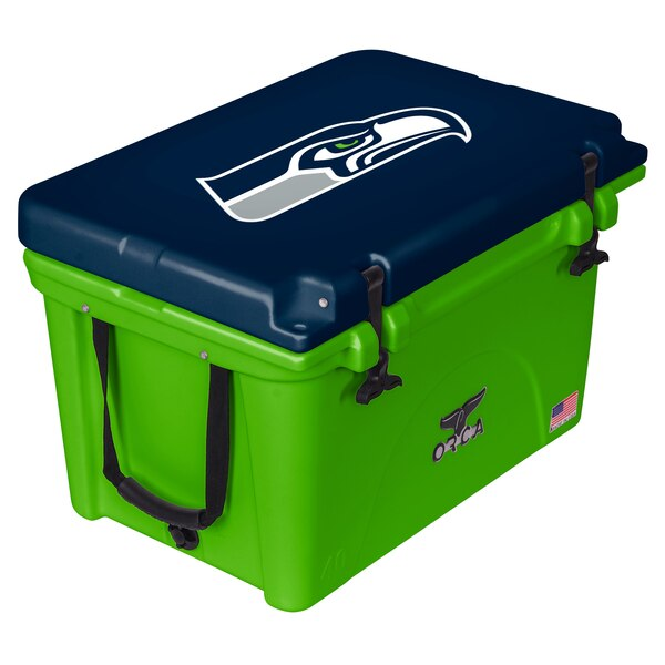 Seattle Seahawks ORCA 40-Quart Hard-Sided Cooler - Neon Green/Navy