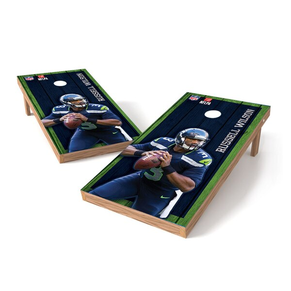 Russell Wilson Seattle Seahawks 2' x 3' Player Vintage Authentic Tailgate Toss Set -