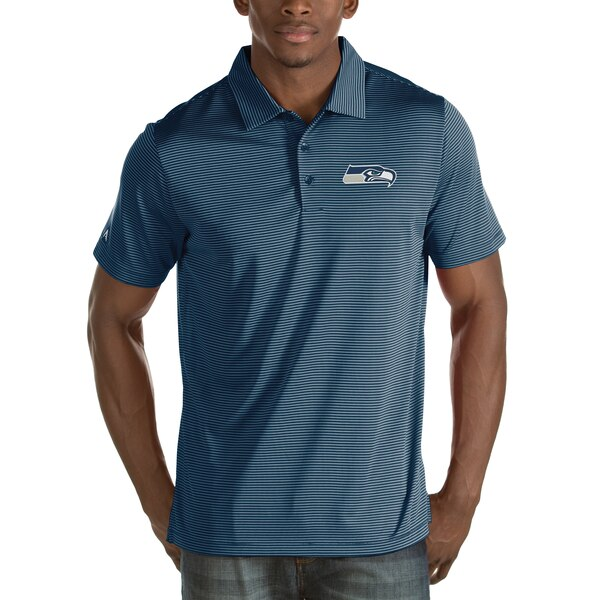 Seattle Seahawks Antigua Quest Stripe Polo - College Navy