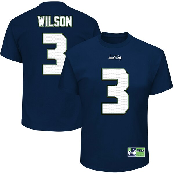 Russell Wilson Seattle Seahawks Majestic Big & Tall Eligible Receiver Name and Number T-Shirt - Navy
