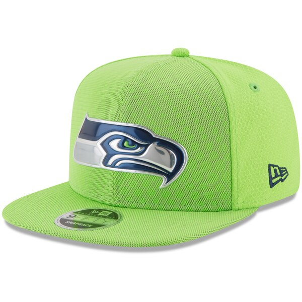 Seattle Seahawks New Era 2017 Color Rush 9FIFTY Snapback Adjustable Hat - Neon Green