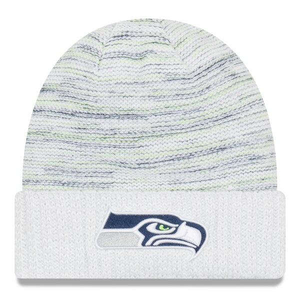 Seattle Seahawks New Era 2017 Color Rush Kickoff Knit Hat - White