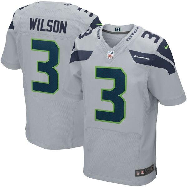 Russell Wilson Seattle Seahawks Nike Elite Jersey - Gray