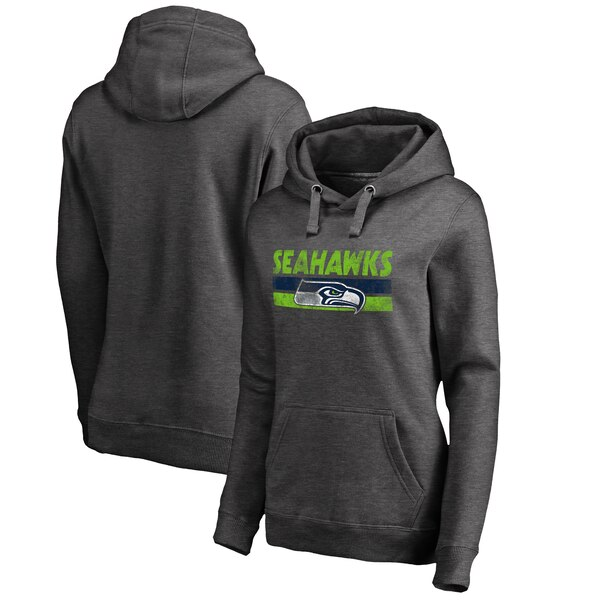 Seattle Seahawks NFL Pro Line by Fanatics Branded Women's Plus Sizes First String Pullover Hoodie - Charcoal