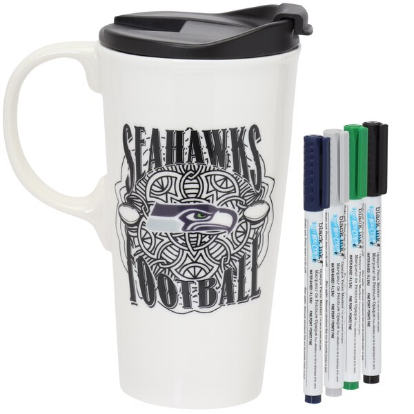 Seattle Seahawks 17oz. Just Add Color Perfect Cup