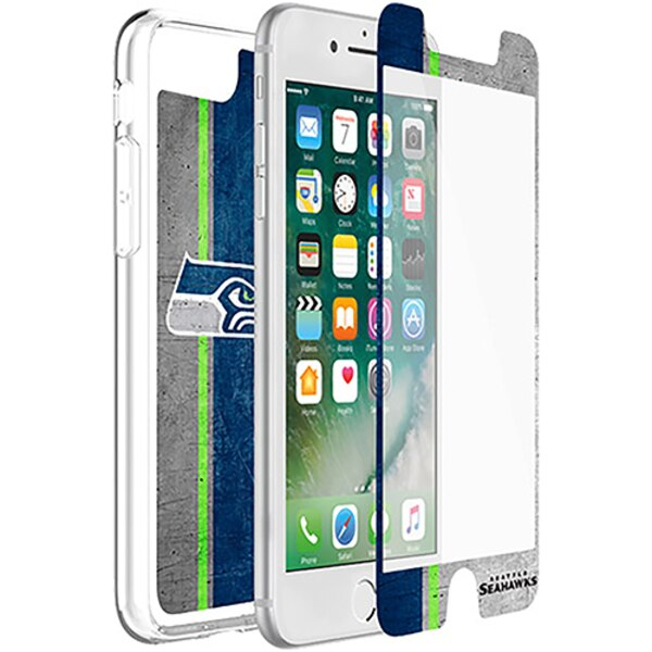 Seattle Seahawks OtterBox iPhone 8/7/6/6s Symmetry Case with Alpha Glass Screen Protector