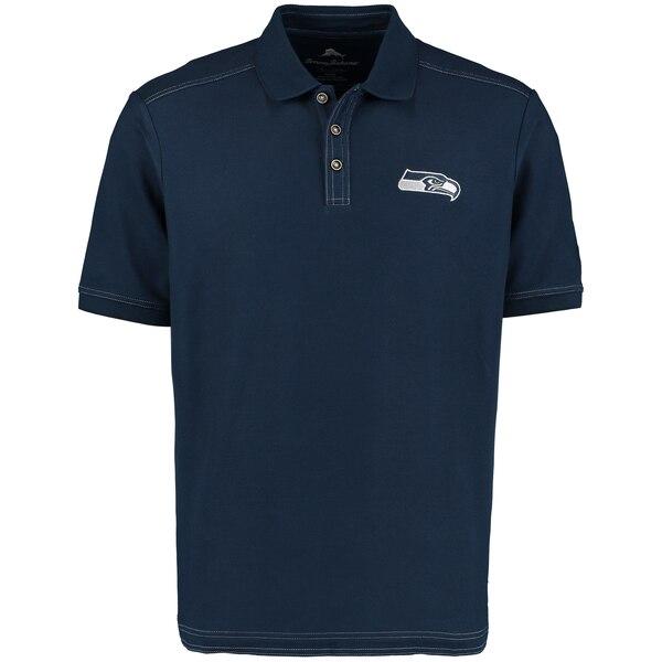 Seattle Seahawks Tommy Bahama Emfielder Polo - Navy