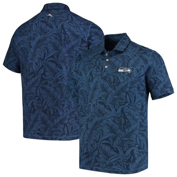 Seattle Seahawks Tommy Bahama Sport Leafbacker Polo - College Navy