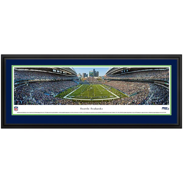 """Seattle Seahawks 44"""" x 18"""" Deluxe Frame Panoramic Photo"""