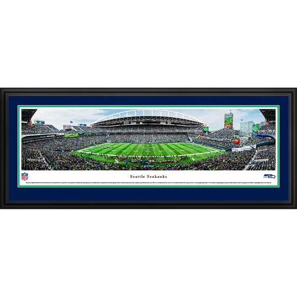 "Seattle Seahawks 44"" x 18"" 50-Yard Line Deluxe Framed Panoramic"