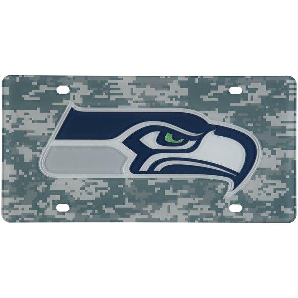 Seattle Seahawks Digi Camo Laser Cut License Plate