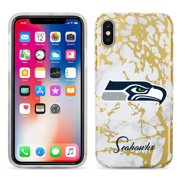 Seattle Seahawks Marble iPhone X Case
