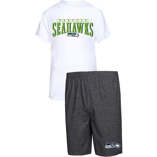 Seattle Seahawks Concepts Sport Father's Day T-Shirt & Shorts Sleep Set - White/Charcoal