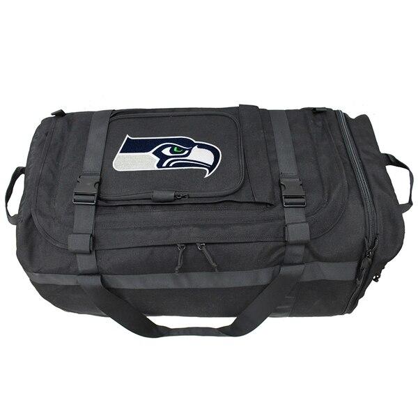 Seattle Seahawks Military Duffel Bag - Black