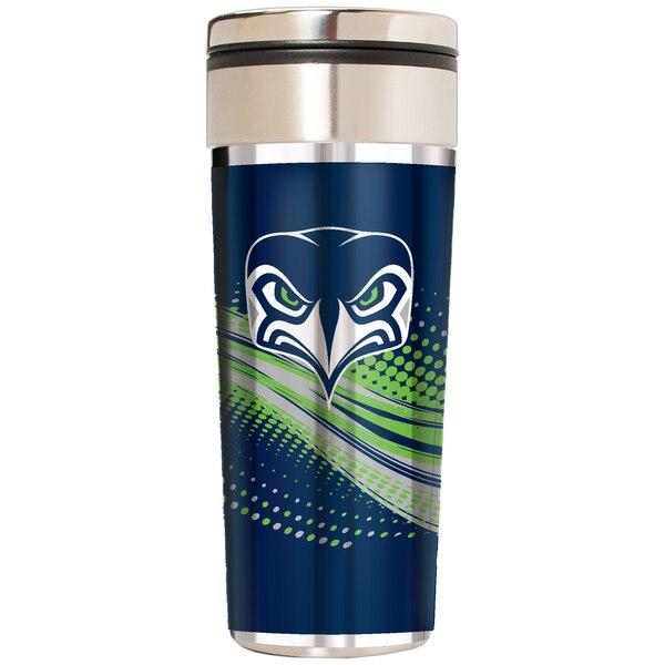 Seattle Seahawks 22oz. Alternate Team Logo Gear Stainless Steel Tumbler - Silver