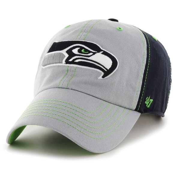 Seattle Seahawks '47 Tumult Clean Up Adjustable Hat - Gray/Navy