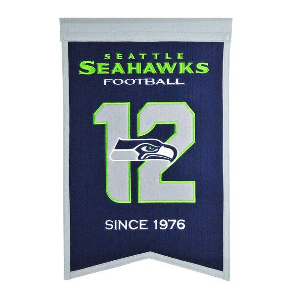 "Seattle Seahawks 14"" x 22"" Team Franchise Banner"