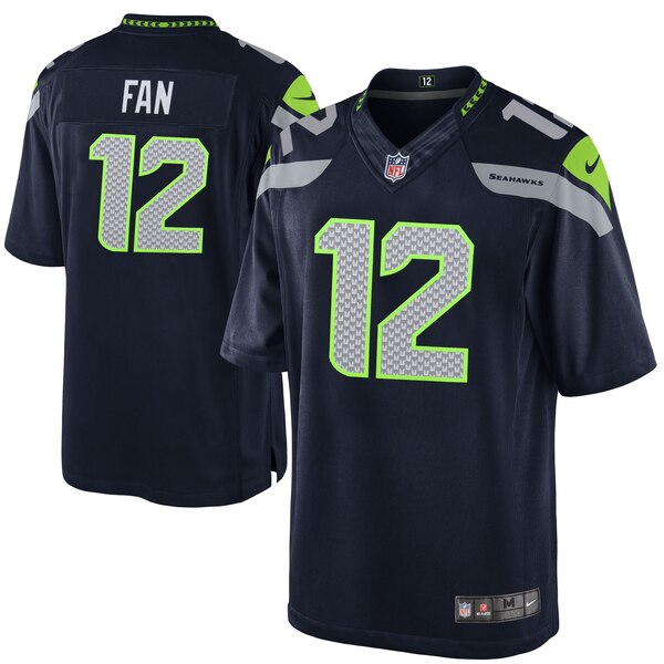 12s Seattle Seahawks Nike Youth Team Color Game Jersey - College Navy