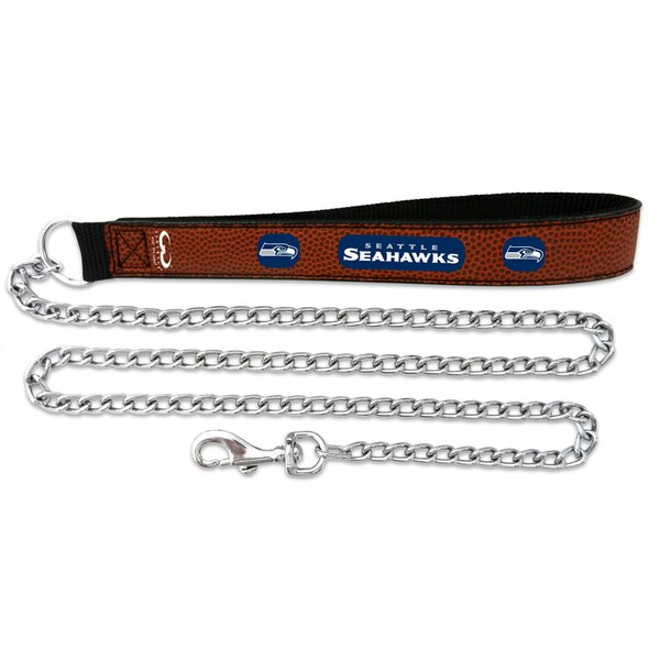 Seattle Seahawks Chain Leash - Brown