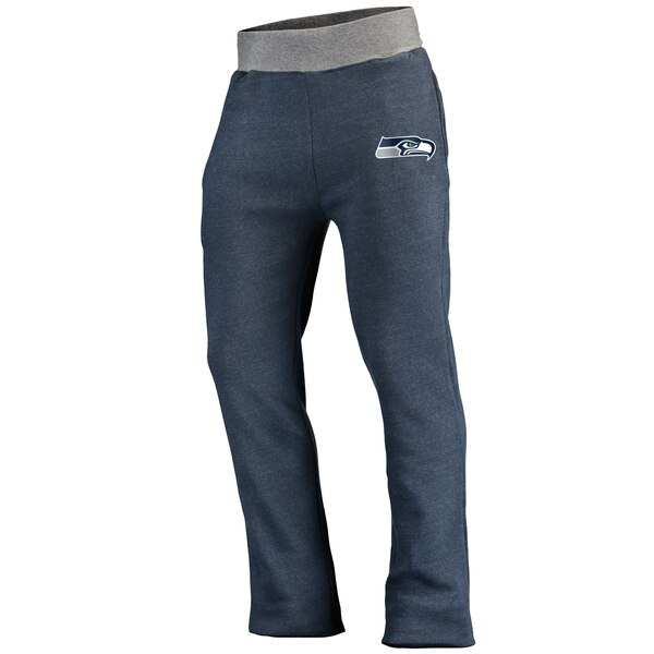 Seattle Seahawks NFL Pro Line Team Essentials Logo Clean Color Tri-Blend Sweatpants - Heathered College Navy