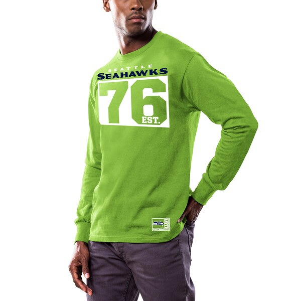 Seattle Seahawks Majestic Favorable Result Long Sleeve T-Shirt - Neon Green