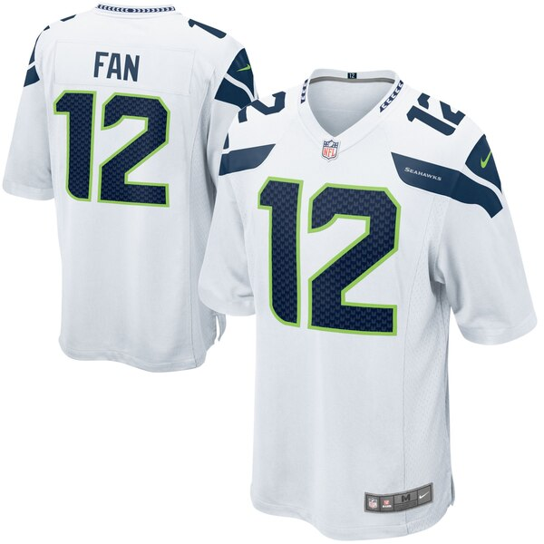 12s Seattle Seahawks Nike Alternate Game Jersey - White