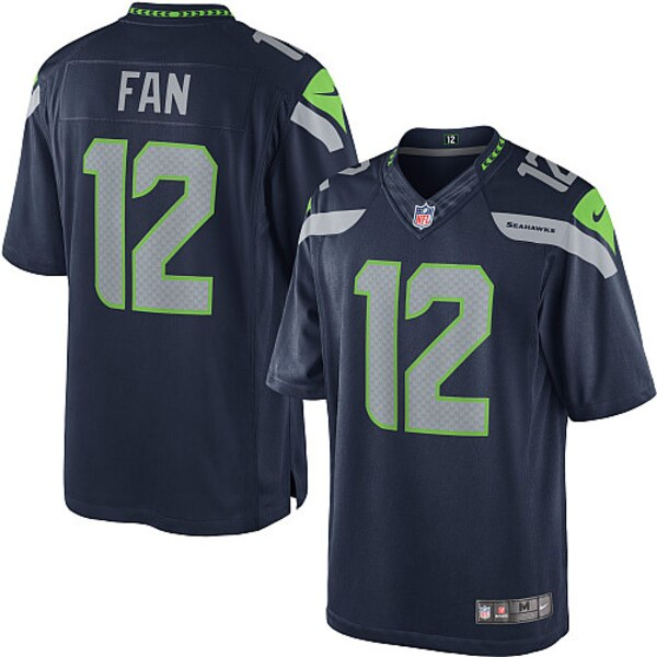 12s Seattle Seahawks Nike Youth Limited Jersey - College Navy