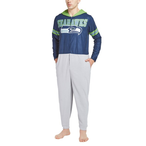 Seattle Seahawks Concepts Sport Warm Up Union Bodysuit - College Navy