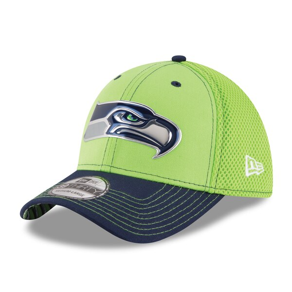 New Era Seattle Seahawks Neon Green NFL Kickoff Neo 39THIRTY Flex Hat