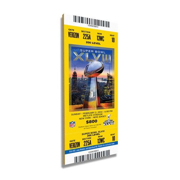 Seattle Seahawks Super Bowl XLVII Commemorative Mini-Mega Ticket