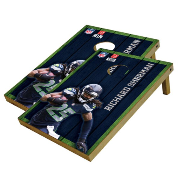 Richard Sherman Seattle Seahawks 2' x 3' Player Vintage Authentic Tailgate Toss Set