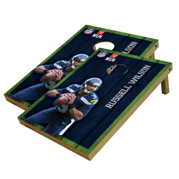 Russell Wilson Seattle Seahawks 2' x 3' Player Vintage Authentic Tailgate Toss Set