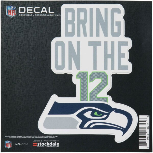 """Seattle Seahawks 6"""" x 6"""" Xpression Full Color Repositionable Decal"""