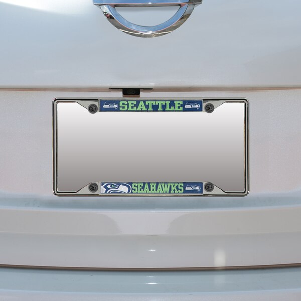 Seattle Seahawks Small Over Small Mega License Plate Frame