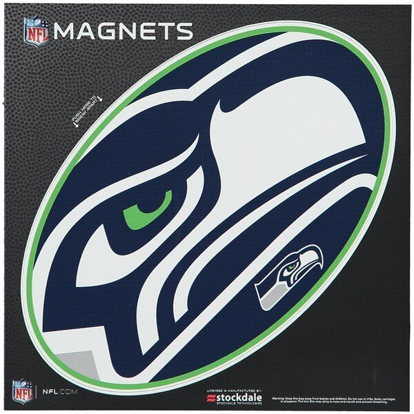 "Seattle Seahawks Mega 6"" x 6"" Oval Full Color Magnet"
