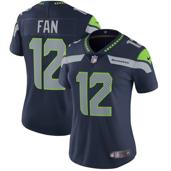 12s Seattle Seahawks Nike Women's Vapor Untouchable Limited Player Jersey - College Navy