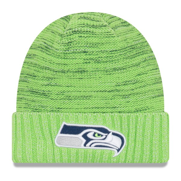 Seattle Seahawks New Era 2017 Color Rush Knit Hat - Neon Green