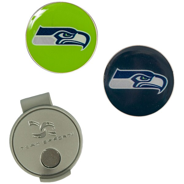 Seattle Seahawks Hat Clip & Ball Markers Set