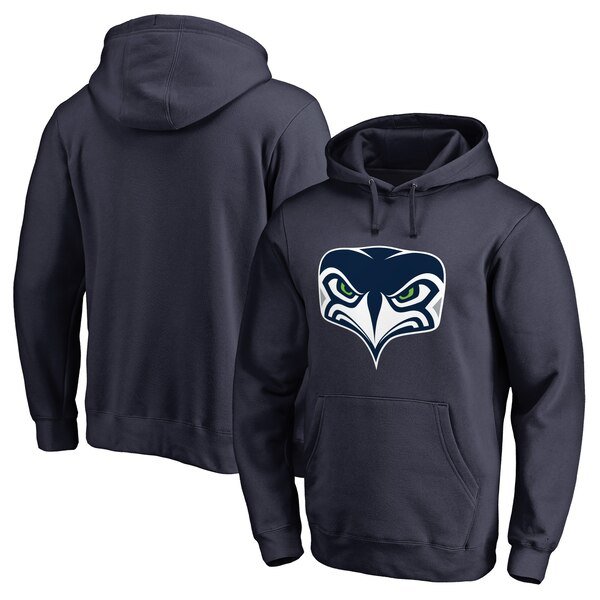 Seattle Seahawks NFL Pro Line by Fanatics Branded Alternate Team Logo Gear Pullover Hoodie - Navy