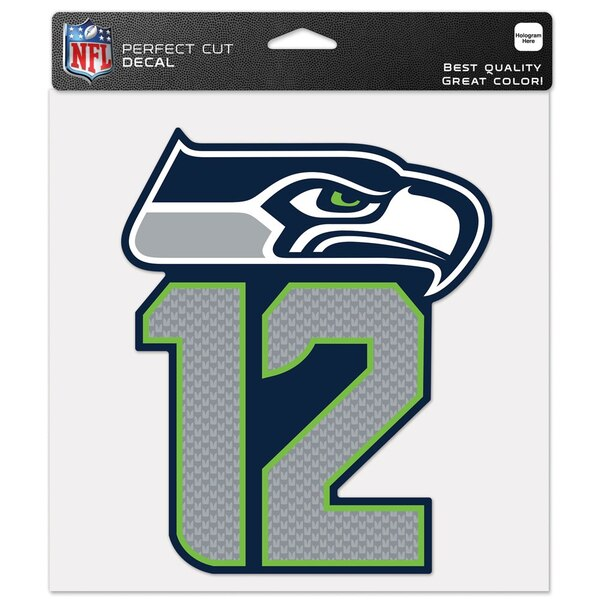 """Seattle Seahawks WinCraft 8"""" x 8"""" 12s Color Decal"""